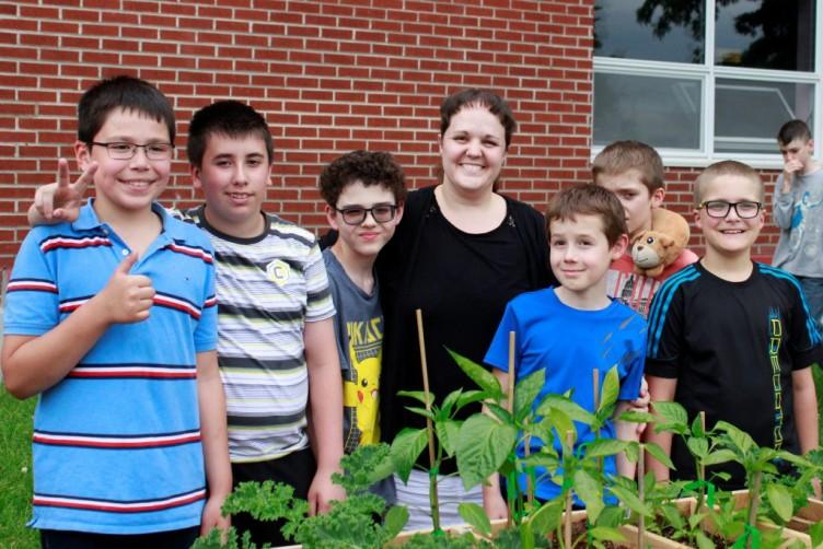 Inauguration du jardin communautaire de l'école